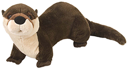 plush otter that comes with Valentine Adopt Gift Package