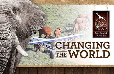 Changing the World Annual Giving, elephant conservation images.
